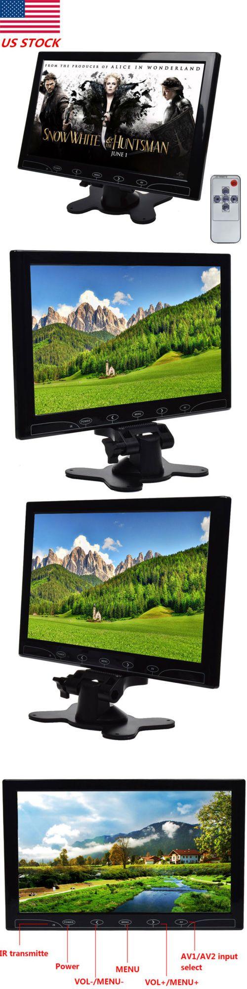Surveillance Monitors Displays: 10.1 10 Inch Surveillance Pc Cctv Monitor Hdmi Vga Av Input Built-In Speaker Us -> BUY IT NOW ONLY: $73.5 on eBay!