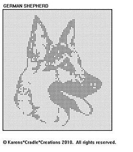 German Shepherd Filet Crochet Pattern | eBay