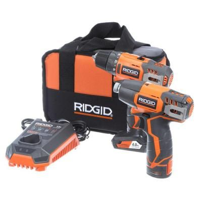 RIDGID 12-Volt Hyper Lithium-Ion Drill/Driver and Impact Driver Combo Kit $149.00 #ShopSale