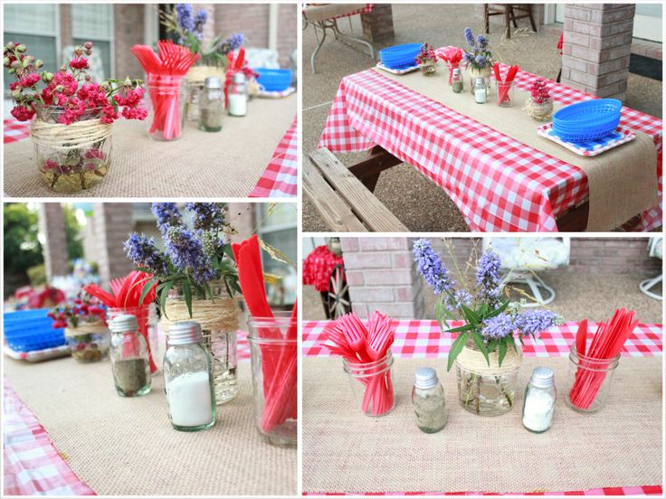 Country Fair Party Picnic Table Decorations