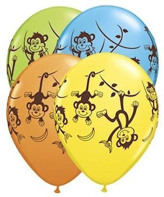 "10 pc 11"" Mischevious Monkey Latex Balloon Party Decoration Decorator Birthday"