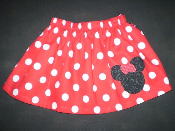 Minnie Mouse Red Twirl Skirt Sizes 6M6 by POMPOMSANDPIGTAILS, $12.95