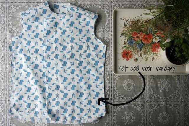 hemdjes sew along 2: voor- en achterpand verwerken