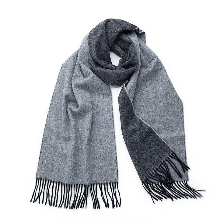 Wool Scarf in Silver/Black
