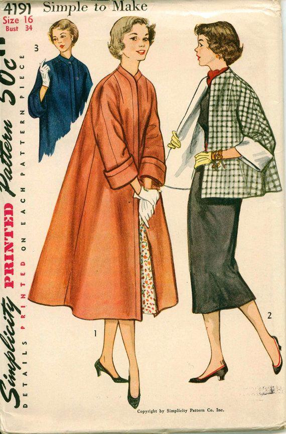 1950's Vintage Pattern Simplicity 4191 1952 by shellmakeyouflip, $23.00