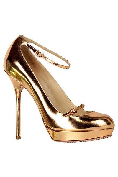 John Galliano: John Galliano, Golden Shoes, Fashion, Galliano Gold, Gold John, Shoes Colors, Gold Pumps, Bride Shoes, Bridal Shoes