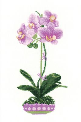 Lilac Orchid Cross Stitch Kit By Riolis