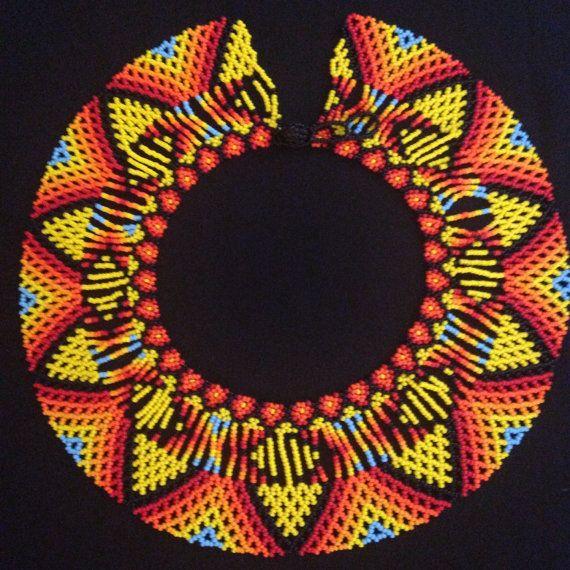 FREE Shipping / Native Amarican Beaded Necklace / by TRIBALMUNAYA