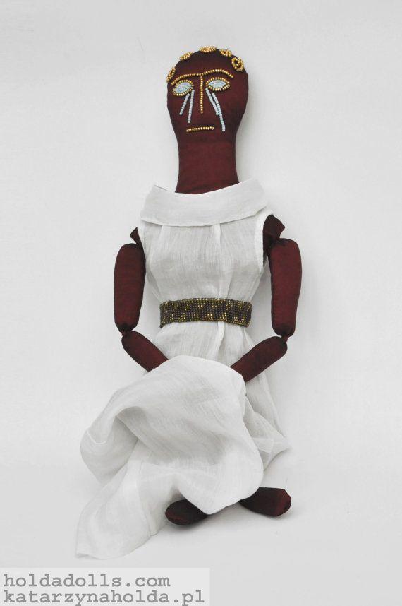 Persephone, ooak art doll, goddess, textile art