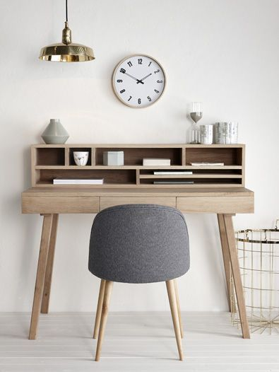 Studio / office - neutrals - grey / white - wood / plywood - storage / shelves - THIS.