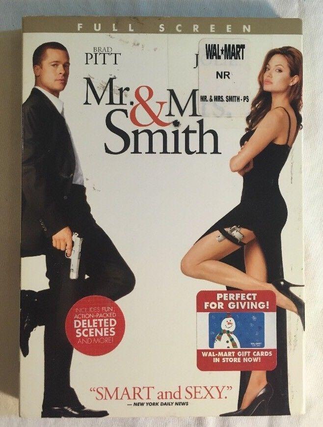Mr. and Mrs. Smith (DVD, 2005, Full Screen) Brad Pitt, Angelina Jolie