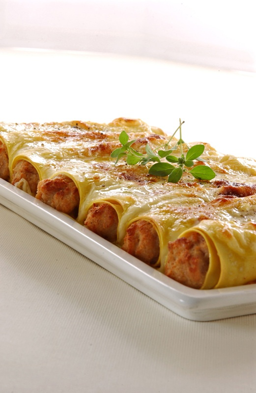 Cannelloni alla Barbaroux: Monferrato rosso.