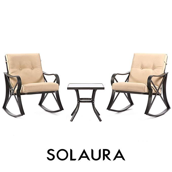 Swell Amazonsmile Solaura Outdoor Rocking Chairs Bistro Set 3 Ibusinesslaw Wood Chair Design Ideas Ibusinesslaworg