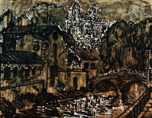 groter plaatje E.H. van Dulmen-Krumpelmann Schilderij 40 x 60 cm Prijs: € 1.765,00 Beschikbaar (119023)