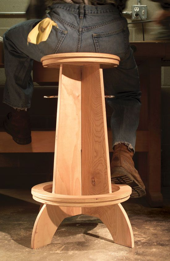 Plywood Bar Stool Woodworking Projects Amp Plans