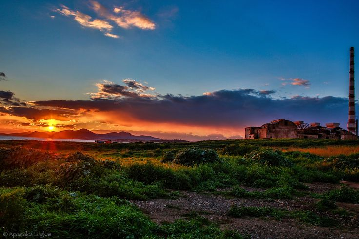 old factory sunset by Apostolos Liagkas on 500px