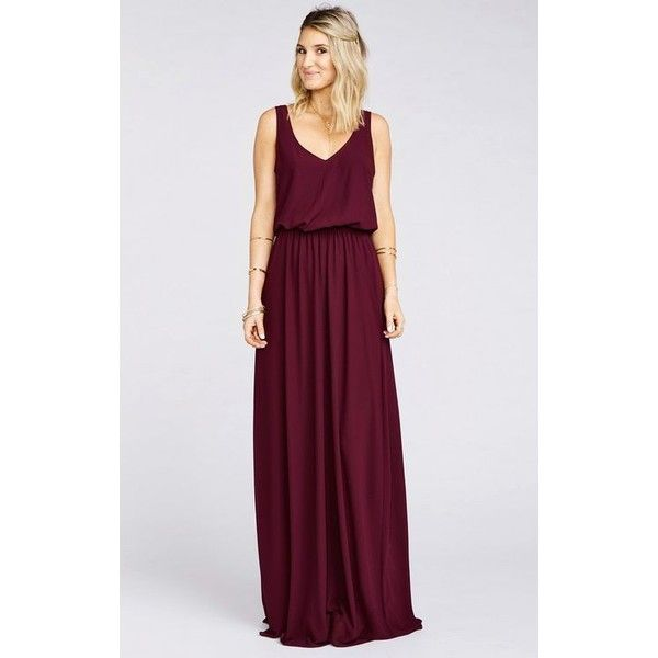 I would want this for Kendra. I think the relaxed style would suit her really well. Heather Halter Dress Red Wine Crisp ❤ liked on Polyvore featuring dresses, short red dress, wine bridesmaid dresses, red dress, long red dress and wine red dress