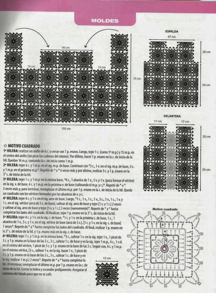 564 best Crochet Cuadrados y Hexagonos images on Pinterest | Granny ...