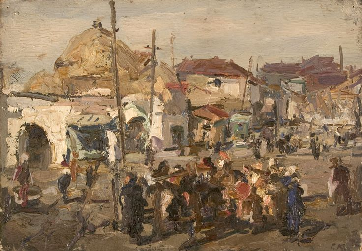 Square of Registan created in 1943 by Gennady Korolev (1913-1995)