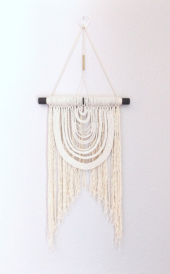 """Macrame Wall Hanging """"Energy Flow no.12"""" by HIMO ART, One of a kind Handcrafted Macrame, rope art"""