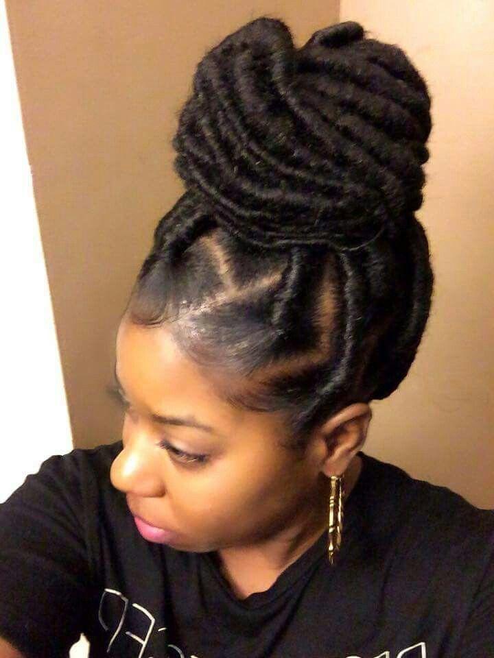 Jumbo Faux Locs...5 packs of Marley hair used...took 3 hrs ...