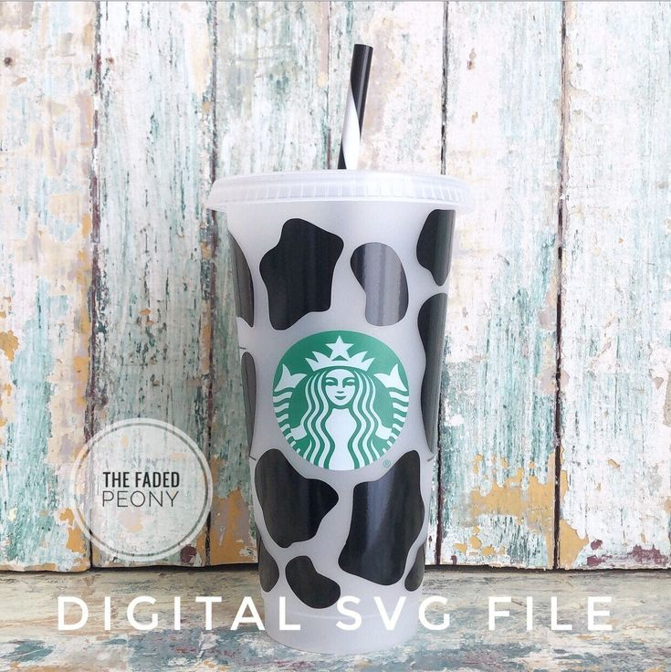 SVG for Starbucks Cup Cow Print Starbucks svg svg Files