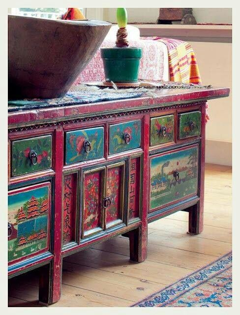 Painting Furniture Boho Style