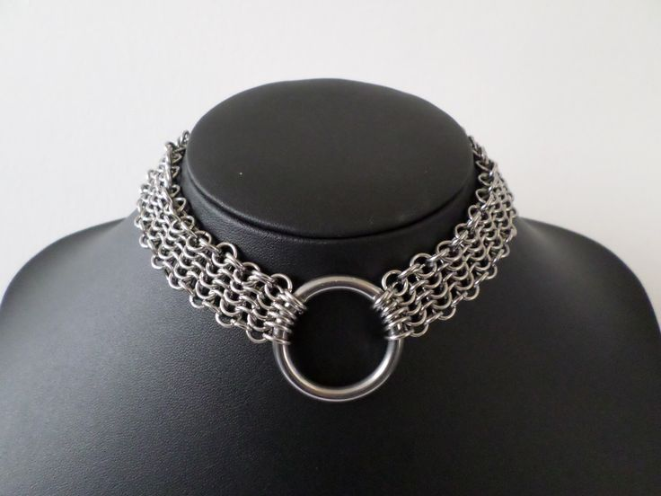 Stainless Steel European Chainmail Gothic O-ring Choker / Day Collar - Armour Chain Necklace by ApocalypseMetalwear on Etsy https://www.etsy.com/listing/201136445/stainless-steel-european-chainmail