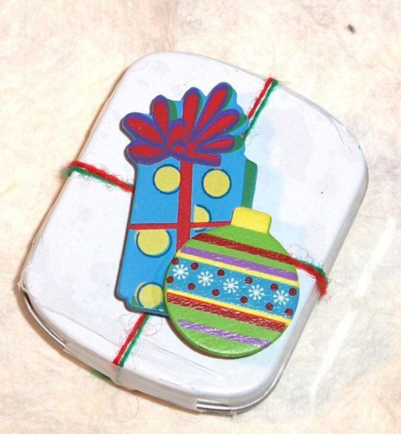 Christmas Tin of Mints topped with a by SouthamptonCreations, $3.00