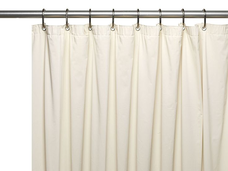 "Royal Bath Extra Heavy 8 Gauge Vinyl Shower Curtain Liner with Metal Grommets (72"" x 72"") - Bone"