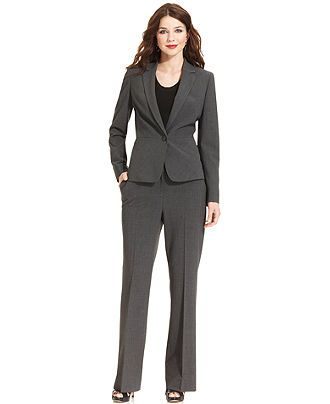 Anne Klein Petite Suit Separates Tropical Wool Blazer and Pant - Womens Petite Suits & Separates - Macy's