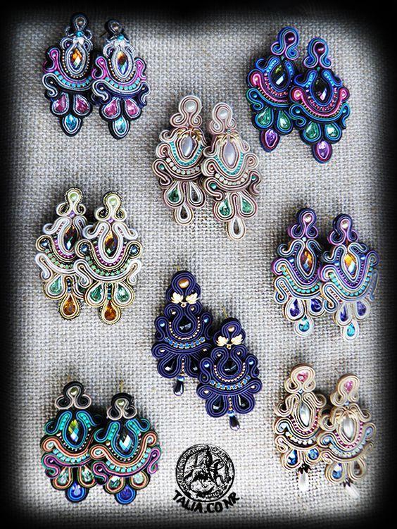 Soutache earrings by caricatalia.deviantart.com on @DeviantArt