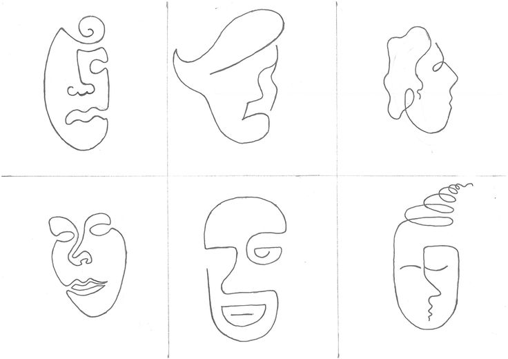 Line faces drawing