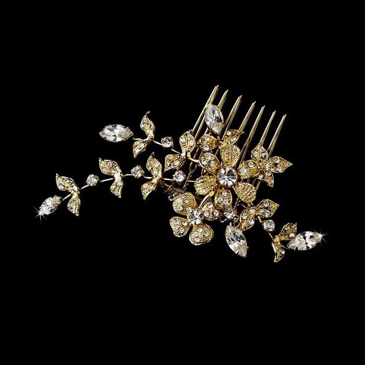 Gold #bridal hair accessories