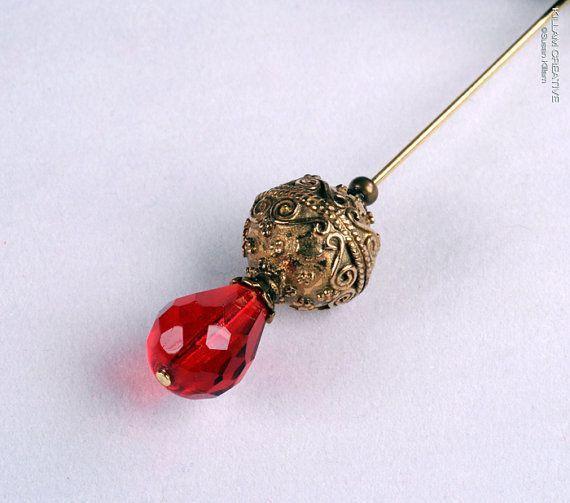Glorious Gold Stick Pin, 3 Inch Hat Pin, Scarf Pin, Hijab Pin KC0361 via EtsyPin Holders, Pin Kc0361, Scarf Pin, Inspiration Broches Pin, Hijabs Pin, Pin Scarf, Sticks Pin, Hats Pin