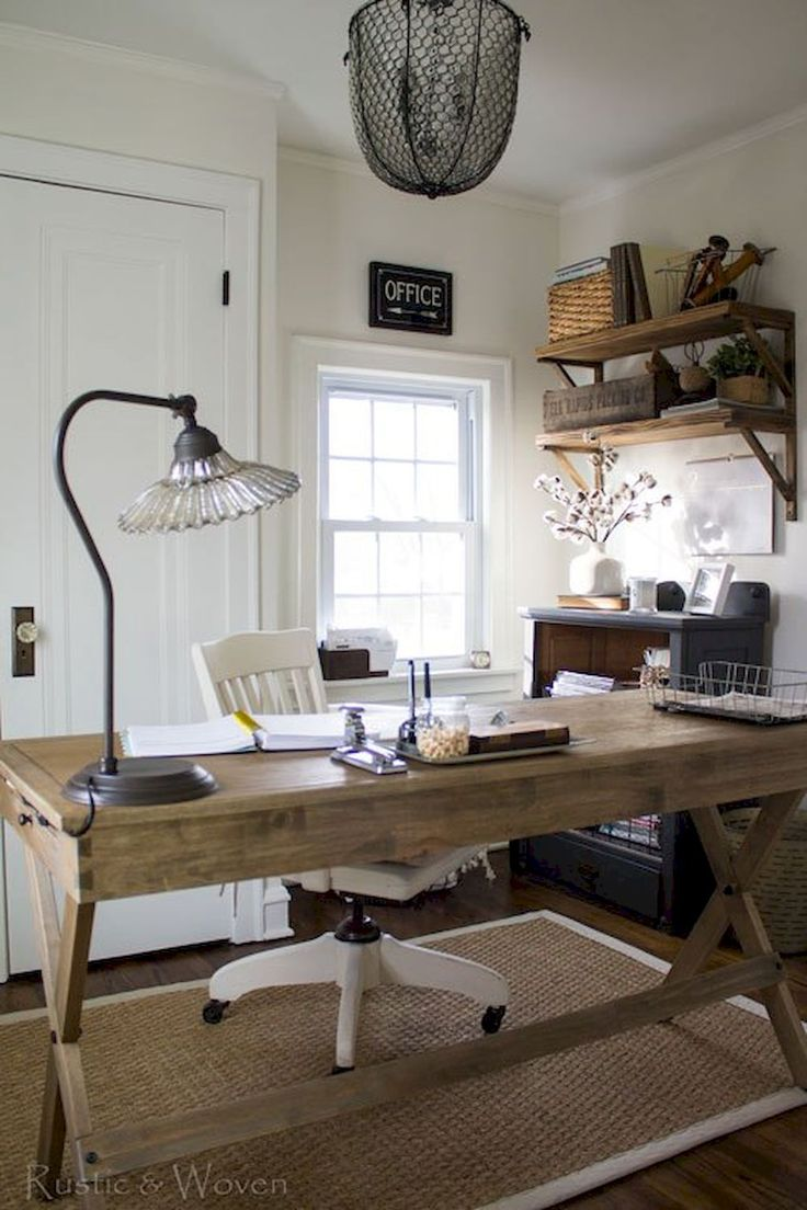Best 25+ Rustic home offices ideas on Pinterest   Rustic ...