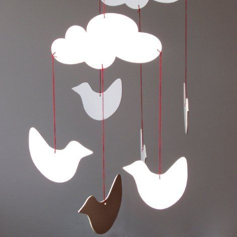 Great project with your kids! Color in this mobile made by Bomb Design