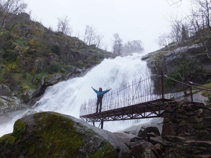 Los inviernos lluviosos generan esta potencia hidráulica en el Valle del Jerte. En la Foto la Cascada del Caozo.