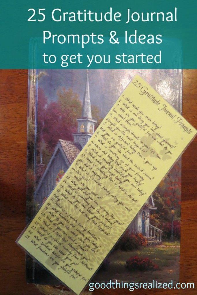 Why write a gratitude journal ideas