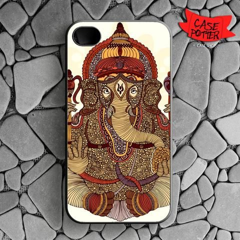 Ganesha Lord Of Success iPhone 4 iPhone 4S Black Case