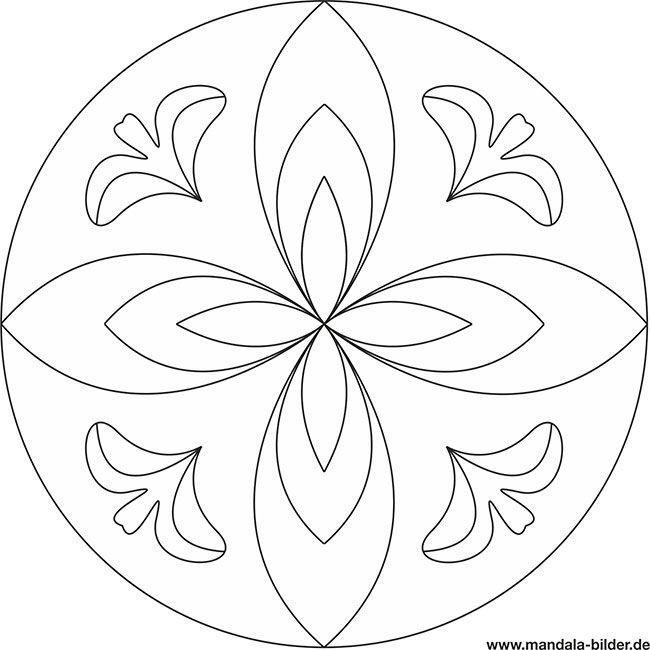 Mandala Pflanze Fur Senioren Mandala Vorlagen Mandala