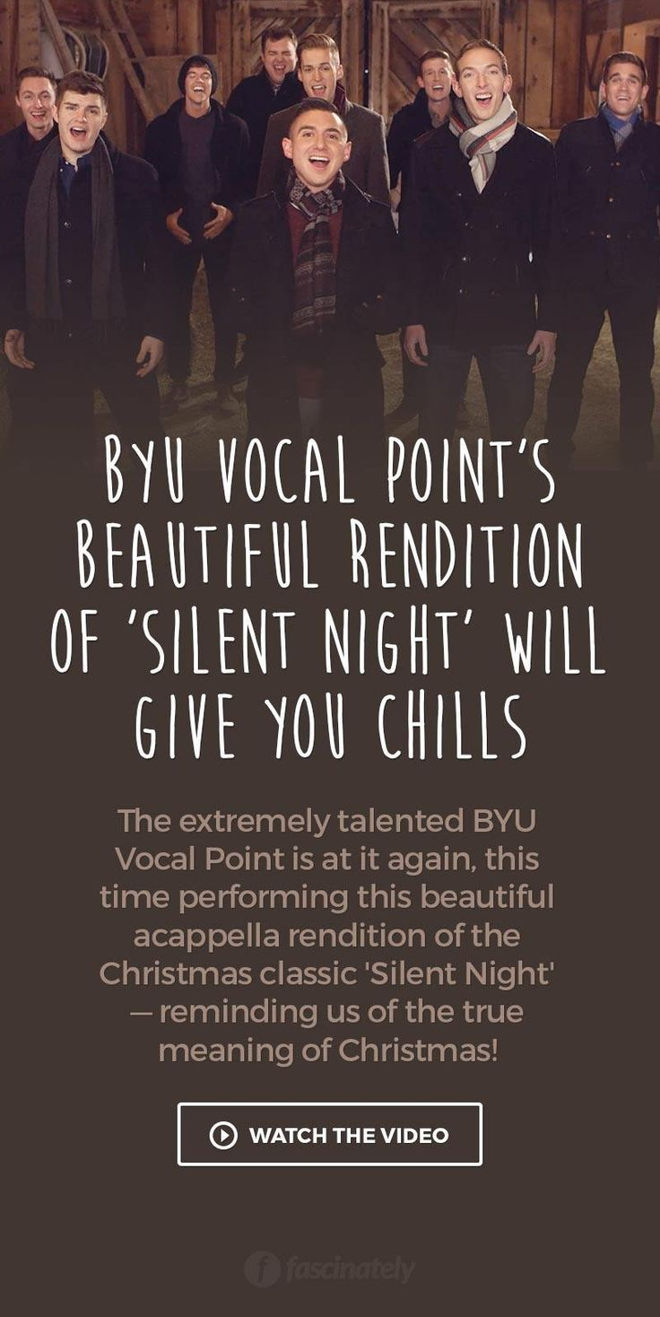 BYU Vocal Point's Beautiful Rendition of 'Silent Night' Will Give You Chills