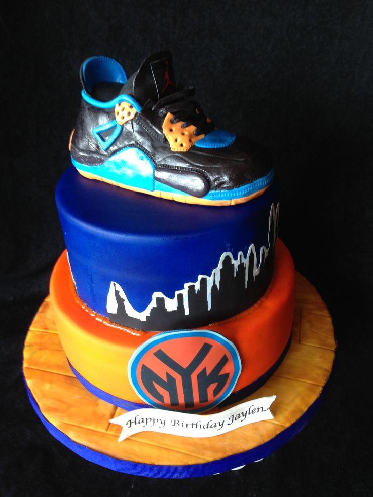 Ny Knicks Cake Boys Birthday Ideas Pinterest Cakes