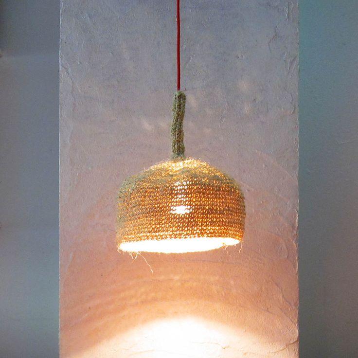 Handmade Crochet Lamp - Com Raiz www.comraiz.com  https://www.facebook.com/comraiz