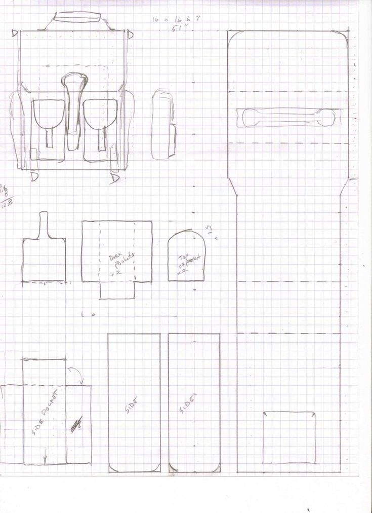 Resultado de imagen para moldes basicos de mochilas
