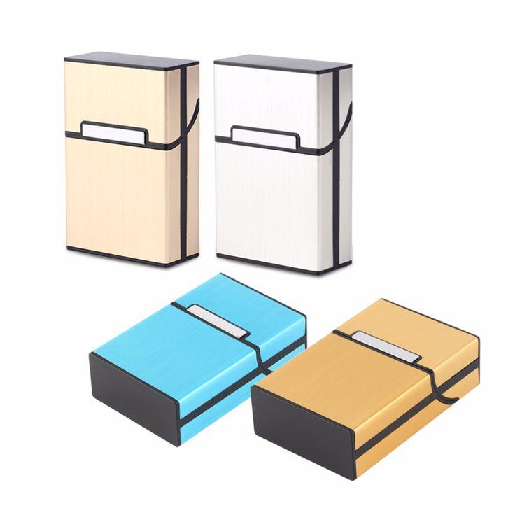 2017 Home Use Light Aluminum Cigar Cigarette Case Tobacco Holder Pocket Box Storage Container 6 Colors