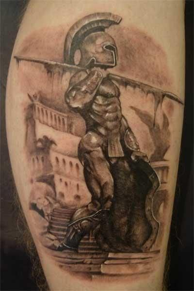 Spartan warrior tattoo< I love this, history buff in me is showing