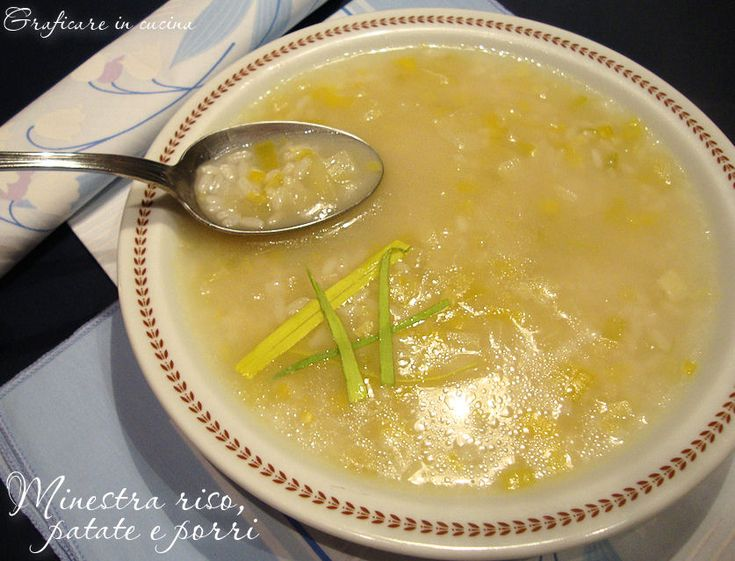 Minestra riso, porri e patate