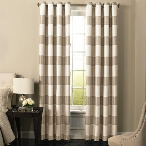 Found it at Wayfair - Gautier Striped Blackout Grommet Single Curtain Panel
