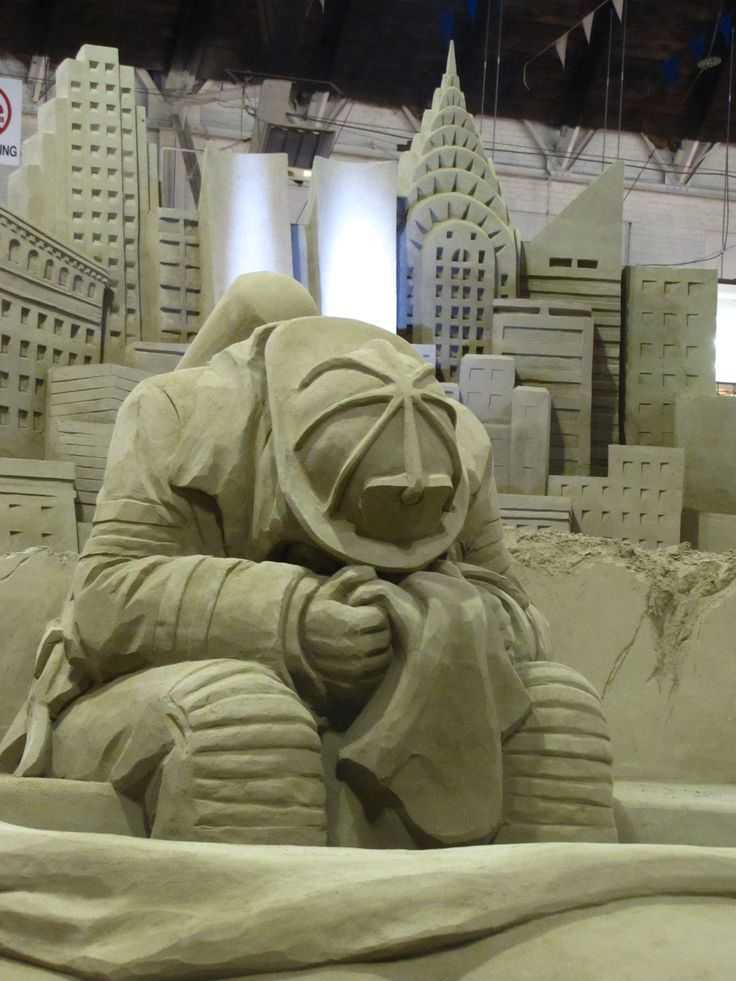Always Remember, an amazing sand sculpture